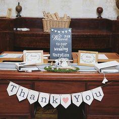* * #weddingtbt 最近postした #黒板 や #芳名帳 は当日こんな感じで飾ってもらいました ちょこんした感じがよかったので、どのアイテムも割りと小ぶりなサイズです♡#ガーランド はプレ花嫁さんではお馴染みのnicoさんのものを使わせて頂きました❤ #ウェルカムドール や 後ろの #くるくる席次表 も後々紹介させてください(*˙˘˙*) * #受付 #受付スペース #ゲストブック #ウェルカムベア #ハンドメイド #手作りウェディング #結婚式 #wedding #プレ花嫁卒業 #卒花嫁 #卒花 #結婚式の思い出にひたる会 #ウェディングレポ *