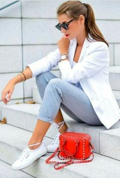60 Casual Blazer Outfit for Women You Must Have - Casual Outfits Summer Work Outfits, Casual Work Outfits, Mode Outfits, Work Casual, Classy Outfits, Casual Chic, Trendy Outfits, Fashion Outfits, Womens Fashion