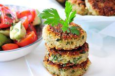 Quinoa-Kartoffel-Laibchen glutenfrei, vegan & fructosearm