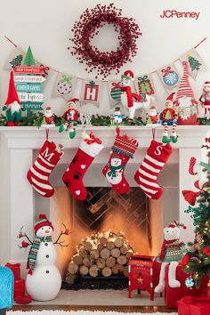 Whether you're shopping for Christmas ornaments or holiday pillows, JCPenney is sure to have the holiday decor just you need at a great price. Christmas Fireplace, Gold Christmas Tree, Christmas Mantels, Simple Christmas, Christmas Themes, Christmas Holidays, Christmas Crafts, Christmas Ornaments, Holiday Decor