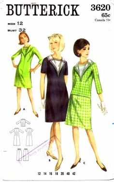 1960s  Womens Dress Pattern