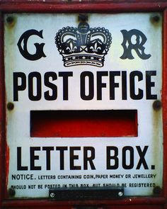 Letter box during the Reign of King George V