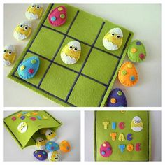 Artículos similares al juego de juego Easter Tic Tac Toe & Felt Easter Eggs and Chick Tic Tac Toe & Felt Easter Toys en Etsy Easter Toys, Easter Crafts, Holiday Crafts, Easter Stuff, Easter Gift, Felt Diy, Felt Crafts, Candy Crafts, Felt Games