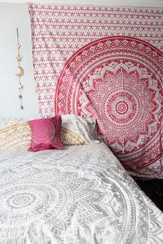 Flower Power Mandala Tapestry