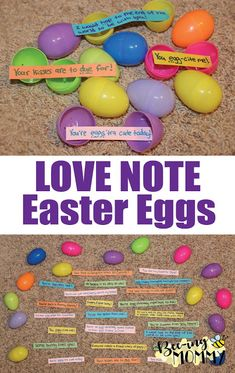 Fill easter eggs with cute easter love note sayings and hide them love note easter eggs fill plastic eggs with cute sayings candy and hide them negle Choice Image