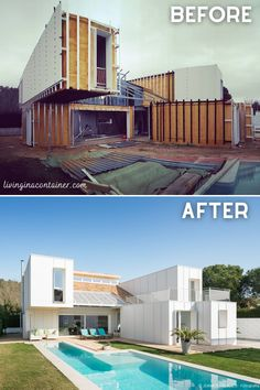Shipping Container Home Designs, Container House Design, Small House Design, Shipping Containers, Shipping Container Buildings, Architecture Details, Modern Architecture, Genius Loci, Building A Container Home
