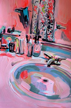 Do you like pink color? Pink Sink by Ekaterina Popova Art Inspo, Painting Inspiration, Old Is Cool, Art Sketches, Art Drawings, Bel Art, Art Sur Toile, Arte Sketchbook, Guache