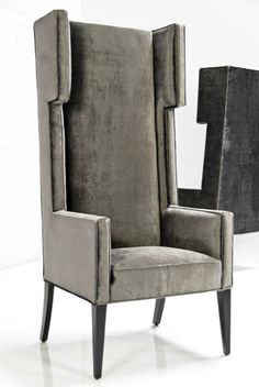 Tangier Wing Dining Chair in Brussels Charcoal by ModShop