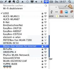 Bester WLAN Access Point Name ever …