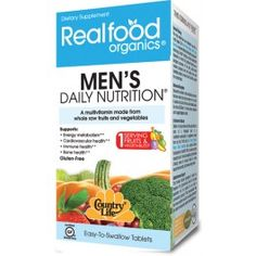 Country Life Realfood Organics Men's Daily Nutrition  is a multi high-energy for men. It is uniquely formulated using the Cryo-Active State process.