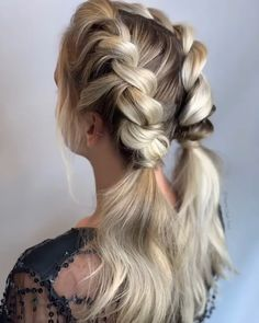 Double Rope Braid Tutorial, this is so beautiful hairstyle for back to school.:) Amazing work via Double Rope Braid Tutorial, this is so beautiful hairstyle for back to school.:) Amazing work via Rope Braid Tutorials, Hair Tutorials, Hair Knot Tutorial, Bridesmaid Hair Tutorial, Medium Hair Styles, Curly Hair Styles, Medium Length Hair Braids, Styling Shoulder Length Hair, Short Hair Braid Styles