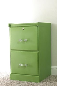 Thinking of painting my wooden filing cabinet...definitely a different color