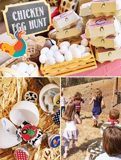 Love this idea to keep the little ones busy — a Chicken Egg Hunt!