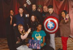 Taken at Vegas Con 2014.  My friends and I posing with the cast of Supernatural as the SPN~AVENGERS