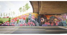 Jim vision & This one & Mathilda in Prishtina, Kosovo, 2020 Street Art London, Cosmos, Horror, Painting, Urban Art, Painting Art, Paintings, Painted Canvas, Space