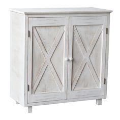 Gracie Oaks Caralee 2 - Door Accent Cabinet | Wayfair Farmhouse Cabinets, Wooden Cabinets, Wall Shelving Units, Shelves, Farm Door, Barn Style Doors, Modern Contemporary Homes, Home Office Storage, Door Storage