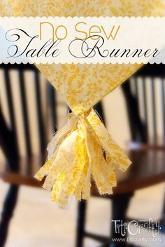 TitiCrafty: DIY No Sew Table Runner