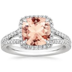 Want your engagement ring selfie to be unique and colorful? White Gold Morganite Fortuna Ring Set with Peach Cushion Morganite gently around a stunning cushion-shaped morganite for a distinctive look. Engagement Ring Buying Guide, Rose Gold Engagement Ring, Designer Engagement Rings, Wedding Ring, Wedding Engagement, Dream Wedding, Gold Sapphire Ring, Citrine Ring, Buy Gemstones