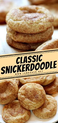 This classic Snickerdoodle Recipe has an all-around amazing texture and just the right amount of cinnamon sugar goodness. These best holiday treats are a kid favorite because of its crispy and chewy texture. Make sure to add this to your list of Christmas cookie recipes! Holiday Treats, Holiday Fun, Snickerdoodle Recipe, I Am Baker, Christmas Cookies, Food Videos, Cookie Recipes, Cinnamon, Deserts