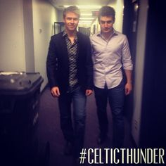 a couple of lads heading to meet and greet last night in Calgary. #celticthunder…