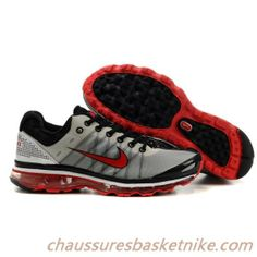 Nike Air Max 2009-01 Rouge / Noir / Gris Chaussures Hommes