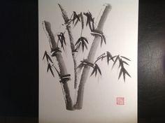 Sumi-e Bamboo Strength