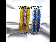 "Rainbow Loom Bracelet - Original Design - ""OSCILLATION"" (ref # 3Phh)"