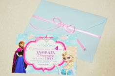 Frozen Party Themed Invitation