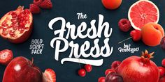 Check out the Fresh Press font at Fontspring.