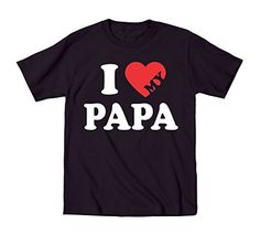 I Love Heart My Papa Baby Shirt 24 Months Black * You can get more details by clicking on the image. (This is an affiliate link) #BabyBoyTops