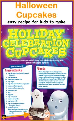 Easy Halloween Cupcakes recipe for kids to make                                                                                                                                                                                 More