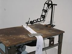 Drawing machine by Jean Tinguely. Life, energy, wit, brilliance, celebration - my kind of artist!