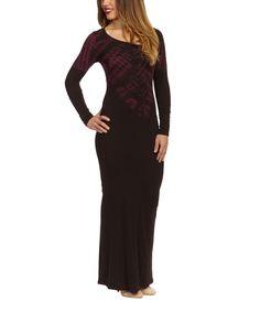 Loving this Black & Purple Tie-Dye Maxi Dress on #zulily! #zulilyfind $19.99