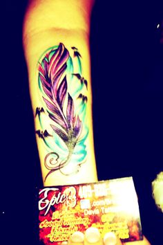 My feather tattoo<3