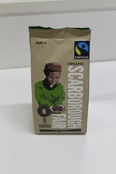 COFFEE   Scarborough Fair coffees are sourced from a selection of small Fairtrade  plantations from the finest coffee growing areas in the world.  The Dark is a blend of coffees from Mexico, Peru and New Guinea.  http://www.scarboroughfairfoods.co.nz/Default.aspx