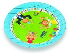 Pippi Langstrumpf Pappteller für eine perfekte Pippi Langstrumpf Party (Pippi Longstocking Party)