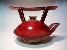 Large Red Tea Pot. $40.00 USD, via Etsy.