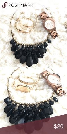 Black Statement Necklace Perfect statement necklace for every outfit! Jewelry Necklaces