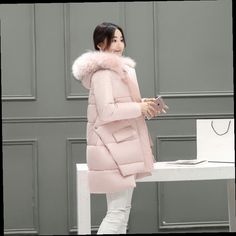 Long Style Maternity Winter Coat Cotton Padded Down Jacket for Pregnant Women Thicken Loose Hooded Outerwear Coat Winter Jackets Women, Coats For Women, Clothes For Women, Maternity Winter Coat, Designs For Dresses, Clothing Hacks, Fur Jacket, Autumn Winter Fashion, Jeans