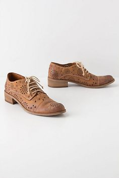 Cutout Daisy Oxfords #anthropologie