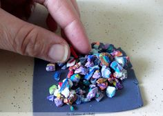 Les Fantaisies de Pinklily Scrap clay Rubiks cube effect tutortial