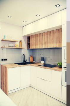Simple Kitchen Design, Kitchen Room Design, Stylish Kitchen, Kitchen Redo, Home Decor Kitchen, Interior Design Kitchen, Kitchen Remodel, Kitchen Ideas, Kitchen Pictures