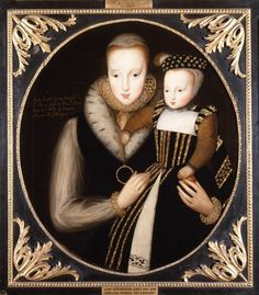 Lady Catherine Gray, Granddaughter of Princess Mary Tudor, and her son Edward Seymour, Lord Beauchamp of Hache Tudor History, British History, Asian History, Dinastia Tudor, Mary Tudor, Adele, Lady Jane Grey, Elisabeth I, Renaissance Portraits