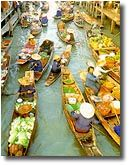 Travel to Thailand & see these floating markets