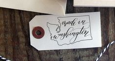 Made in Washington hand calligraphy stamp  product by AnchorPort