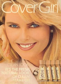 Did you know Christie Brinkley modeled for Cover Girl for 25 years? That is the longest running cosmetics contract of any model in history! Christie Brinkley, Natural Looks, Print Ads, Covergirl, Vintage Ads, Supermodels, Fun Facts, The Originals, Celebrities