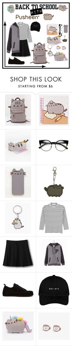 """""""#PVxPusheen"""" by parkjiminie ❤ liked on Polyvore featuring Pusheen, Monki, WithChic, Ann Demeulemeester, contestentry and PVxPusheen"""