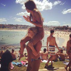 Hot, beach, friends, fun