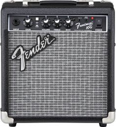 Fender Frontman 10G Electric Guitar Amplifier by Fender. $59.99. Our Frontman amps deliver quality tone at a great price, with custom-voiced built-in overdrive for great tone and the unmistakable Fender Blackface look. The 10-watt Frontman 10G features a 6-inch Special Design speaker and a selectable gain control that can rock guitar tones from tube-emulated overdrive to full-strength ultra-saturated distortion; perfect for blues, metal and the famous Fender clean tone...
