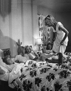 Slumber party at Tina's house. Long Island, New York, 1955